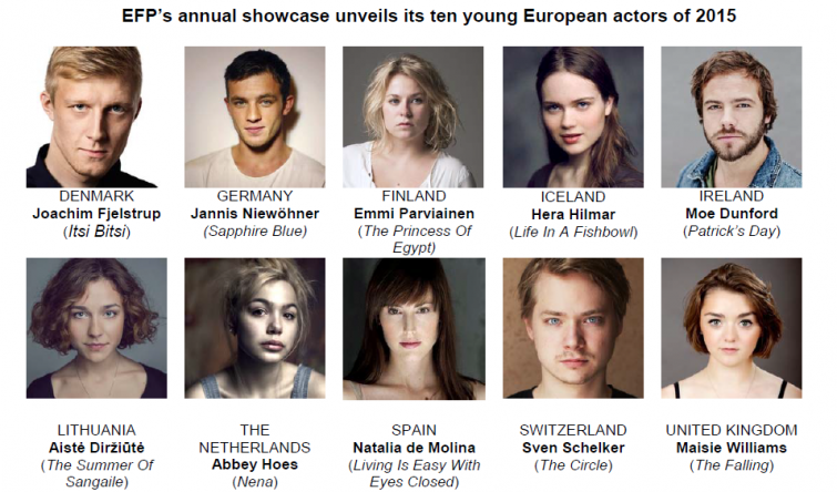 EFP's annual showcase unveils its ten young European actors of 2015