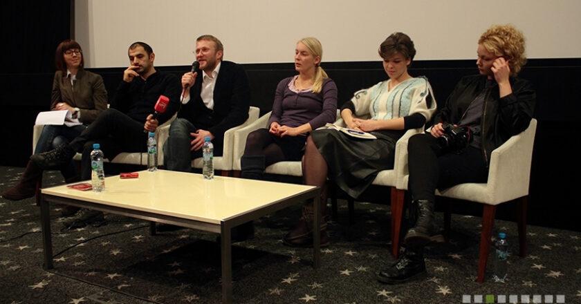 Lietuviškų filmų režisieriai spaudos konferencijoje. Foto - Levas Žiriakovas