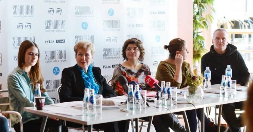 """Festivalio """"Scanorama"""" 2014 spaudos konferencija Marinos Juralevičiūtės nuotrauka"""