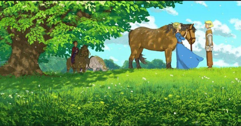 """Kadras iš filmo """"Aukso žirgas"""" Filmo kadrų autorius Xavieras Dujardenas"""