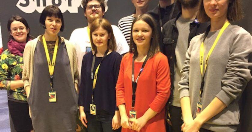 """Lietuvių delegacija Clermont-Ferrand filmų festivalyje """"Lithuanian shorts"""" archyvas"""