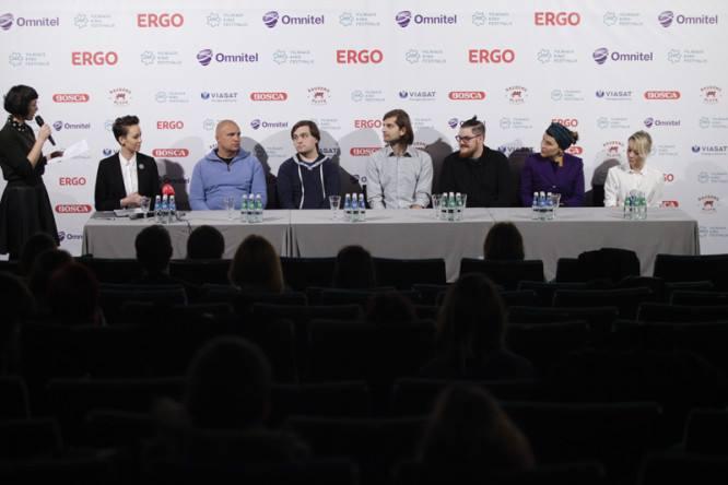 """Lietuviškiems """"Kino pavasario"""" filmams skirta spaudos konferencija Festivalio """"Kino pavasaris"""" archyvas"""
